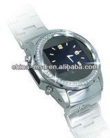 "2013 Factory price1.33"" touch screen 1.3M camera,Bluetooth,MP3 MP4,FM GSM Quad band New Diamond watch mobile phone MQ988"
