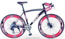 chinese road bike prices with colorful aluminum tire and steel frame for adult bicycle on sale