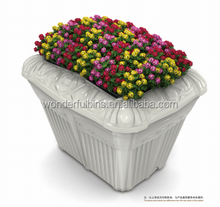 plastic flower pots self-watering coating