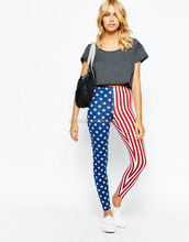 lades pring leggings Spandex Retro American Flag Print women Leggings