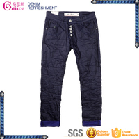 DL421 OEM brand summer collection distressed leisure pants ladies high waist casual pants