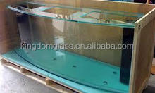 tempered glass price/ tempered glass fish tank /one way bulletproof glass price