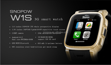 SNOPOW W1S 3G transflective screen IP68 waterproof android 4.4 dual core 1G RAM 8G ROM new model watch mobile phone