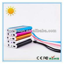 1200mAh Solar Panel Power Bank USB Battery