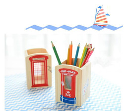 2015 hot sell creative Practical wood pen holder popular