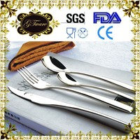 Mirror Polished Stainless Steel Flatware And Cutlery Spoon Set Hotel Banquet Equipment