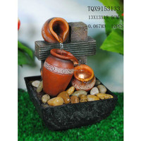 Resin handicraft water fountain indoor fountains with light