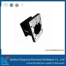 cnc turning part customized cnc machined part with black anodized finish