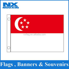 8years flag factory supply 75D polyester custom 3x5ft Singapore flag national flag world flag for national day