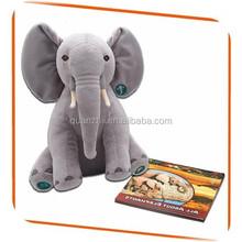 Educational plush and stuffed elephant toys with big ears