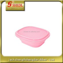Silicone Bowls, Outdoor Traveling Silicone Lunch Box, Can Be Folded