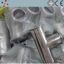 stainless steel sanitary 304 tee pipe fitting