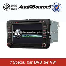 "Hotsale 7"" touch screen special car dvd player gps navigation for Volkswagen and Skoda with GPS,IPOD,BT,A2DP,RDS and so on"
