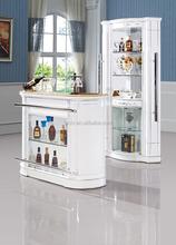 Popuar Vintage white colour glass bar cabinet French Top Art Antique Cabinets