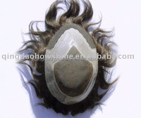 Aliexpress new arrival men hair toupee brazilian human hair piece toupee for black men