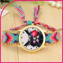 Fashion Quartz Clock The New Handmade Woven Rope Bracelet Watch Ladies Watches Wholesale
