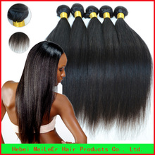 New products 2015 best quality aaaaaa grade relaxed straight hair weaving