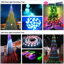 Large Outdoor Artificial Colorful LED Lights Christmas Trees