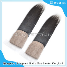 Stock 8A Brazilian Virgin Lace Closure Hair Closure 4X4 silk Top Closure
