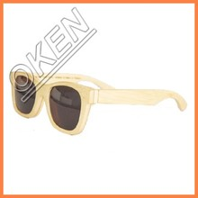 Top grade wooden bamboo sunglasses with polarized lens in fashion design