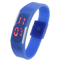 2015 Top Selling Fashion Digital Silicone Bracelet LED Sports Wrist Watch