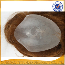 Invisible PU Thin Skin Injection Human Hair Womens Toupee