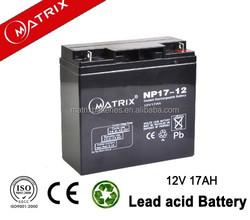 VRLA agm 12v 17ah battery for ups back up power