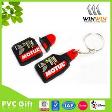die cut shape 3d customized soft pvc rubber promotional keychain