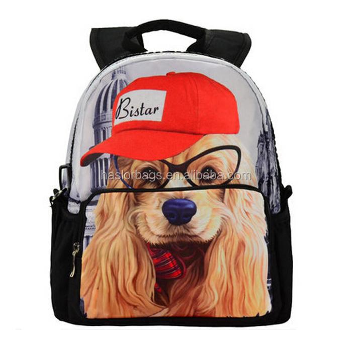 Meilleur creative chien modèle de sac à dos pour adolescente
