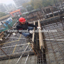 One time hot press black film faced plywood used for construction and real estate , imprinted concrete plywood 18mm