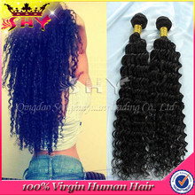 Wholesale Machine Weft 100% Peruvian Virgin Kinky Curly Hair Extensions