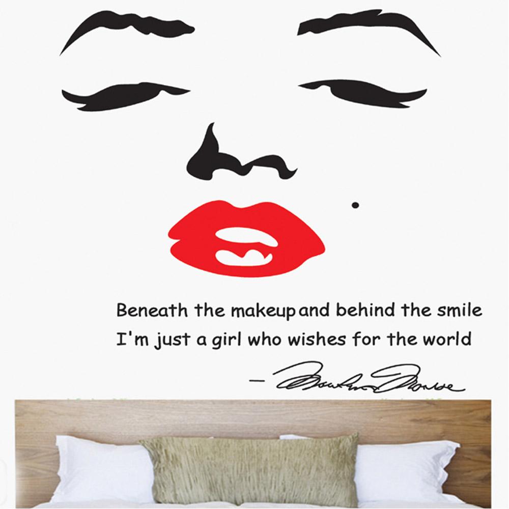 Marilyn Monroe Wallpaper For Bedroom Wholesale Adesivo De Parede Portrait Of Marilyn Monroe Diy Wall