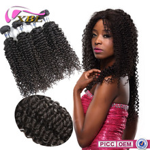 Unprocessed 7A grade No Tangle Chemical Free 32 inch curly hair extensions