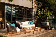 Garden Furniture Outdoor Teak wood Sofa