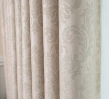 Flocked Pattern and Cafe,Home,Hospital,Hotel,Office Use customized curtain