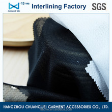 China knitted ployester fabric interlining/ garment woven fusible interfacing