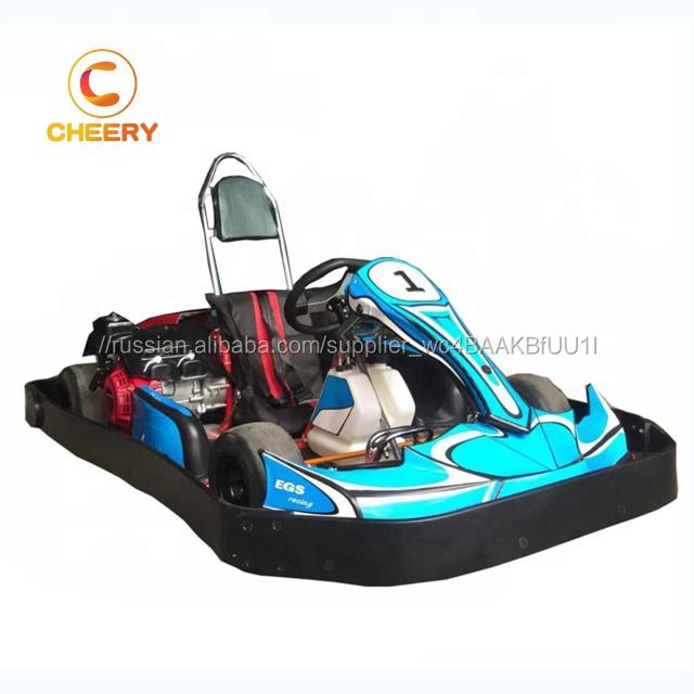 дешевые Электрический бензин go kart гоночный автомобиль игры семья go Картинг с Детская безопасность бампер
