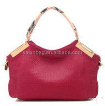 New design Fashion leather women handbag/fashion lady handbag/pu bag