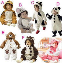 Hot-selling spring autumn baby clothes baby tiger cow animal style clothing romper baby one piece romper infant costume