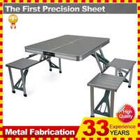 CHEAP ALUMINUM FOLDING PICNIC AND BBQ TABLE AND CHAIRS
