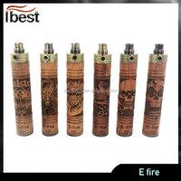 Latest design huge vaporizer wooden mod e cig variable voltage and wattage e fire pen mod