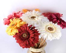 Venta al por mayor de flores Fu Lang multicolor de flores artificiales de seda de flores planta simulación simulación vegetal