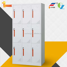Self-chocking structure new style ventilation holes 9 door powder coated metal storage locker
