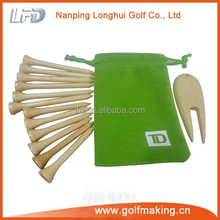 golf pouch with tee & ball