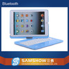 2015 New Products 360 Degreen Rotation Aluminium Wireless Bluetooth Wireless Keyboard Waterproof for iPad 6