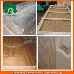 Ash/Teak/Okoume/sapele Wood Grain Veneer MDF Door Skin with Different Panel