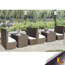 PE rattan outdoor furniture restaurant furniture dining table and chairs luxury restaurant dining set