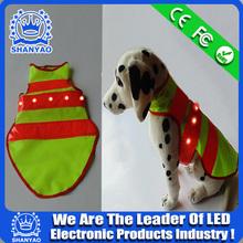 2015 Hot Selling Reflective Dog Vest With LED Lights