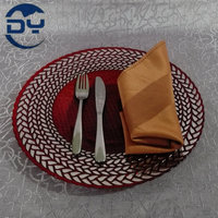 GP0034 13inch Red Bottom Silver Lace Glass Food Tray