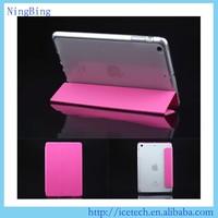 3 folders TPU flip minion case cover for apple ipad 2 3 4 tablet apple